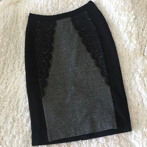 Beautiful Tweed & Lace Pencil Skirt